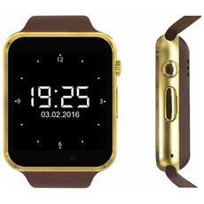 "Smartwatch SW1 Display 1.54"" HD con Bluetooth Oro / Marrone - Europa"