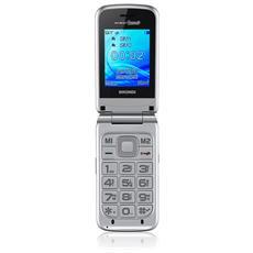 "Amico Grande Senior Phone Dual Sim Display 2.4"" Slot MicroSD Bluetooth Fotocamera Tasti Grandi e SOS Colore Argento - Italia"