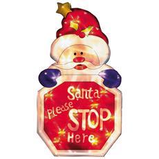 Segnale Luminoso Con Scritta Santa Please Stop Here (taglia Unica) (rosso)