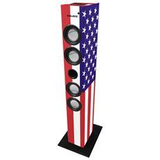 Sistema Audio TS-84 Bluetooth Sintonizzatore FM Bass Reflex Potenza 30Watt Bandiera USA