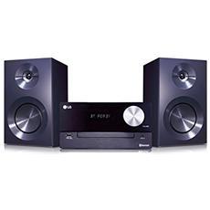 Sistema Micro Hi-Fi CM2460 Lettore CD Supporto MP3 Potenza Totale 100W USB Bluetooth colore Nero