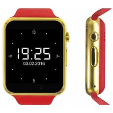 "Smartwatch Quadband Sw1 Kn Mobile Gold / red 1,54"" Hd Foto Mp3 Bluetooth"