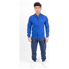 Tuta Stretch Terry Full Zip Blu Blu M