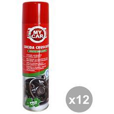 Set 12 Lucidafacile Cruscotti Spray 400 Ml. Accessori Auto E Moto