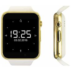 "Smartwatch Quadband Sw1 Kn Mobile Gold / white 1,54"" Hd Foto Mp3 Bluetooth"