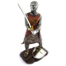 figura 'chevalier templier' marrone argento - [ m0010]