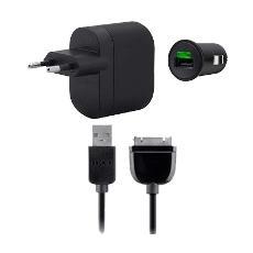 Kit Caricabatteria Rete + Auto per Galaxy Tab - Nero