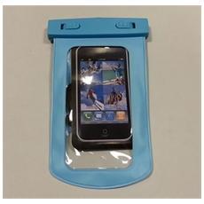 Samsung Galaxy S3 I9300 / S4 I9500 Custodia Subacquea Waterproof Bag Azzurro