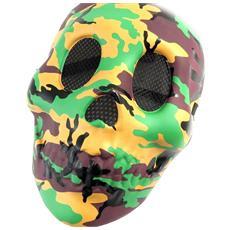 maschera disguise 'camouflage' marrone verde - [ l7792]
