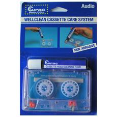 Nastro Audio Cassetta Pulisci Testine Non Abrasiva Con Liquido