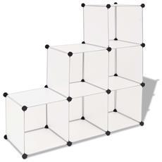 Armadio Salvaspazio A Cubo Con 6 Scomparti Bianco