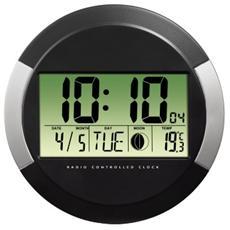 """Orologio da Parete Radio Controllato DCF """"PP-245"""" Nero"""