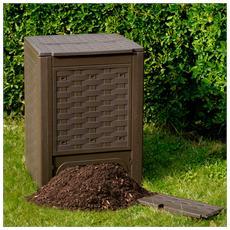 Compostiera da giardino in plastica da 300 lt