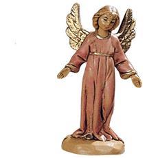 Angelo In Piedi 6,5cm In Resina Presepe (f-204)