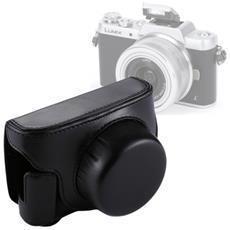 Custodia Finta Pelle Per Panasonic Lumix Gf7 / Gf8 / Gf9 Per Lenti 12-32mm 14-42mm