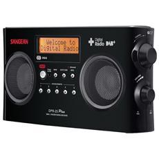 DPR-25+, DAB, DAB+, FM, 87.5 - 108 MHz, Digitale, LCD