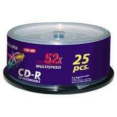 CD-R 700 MB 52x 80 Min 25 Pezzi 17035