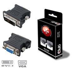 DVI to VGA video converter / adapter, DVI-I, VGA, Maschio / femmina, Nero, 1920 x 1200 Pixels