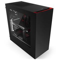 Case Source 340 Middle Tower ATX, Micro-ATX, Mini-ITX Colore Nero / Rosso Finestrato