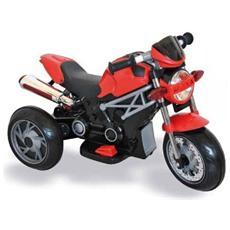 Moto Elettrica Naked Rossa con Luci e Suoni 6 Volt 02314001