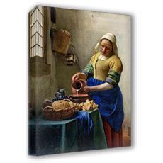 Quadro Su Tela Il Meglio Dell'arte Misura 70x100 Cm La Lattaia - Vermeer
