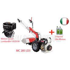 Motocoltivatore A Diesel Mc 285 Ld3 Con Motore Lombardini 15ld350 Hp 7,5