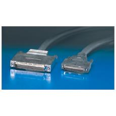 SCSI LVD cable, V68 M / DB68 mini M, 1.0m, Nero