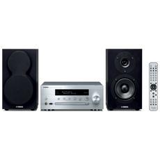 Sistema Micro Hi-Fi MCR-N470D Lettore CD Supporto MP3 Potenza Totale 44W Radio Digitale DAB+ USB Bluetooth colore Argento
