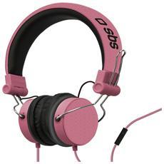Cuffie con filo stereo + Microfono e tasto risposta / fine chiamata - Rosa