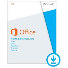 Office 2013 Home & Business 32/64 Bit Esd Licenza Elettronica