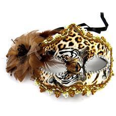 maschera creator 'carnaval de venise' leopardo marrone - [ m3325]