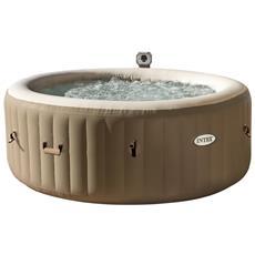 INTEX - 28404 Pure Spa Bubble Therapy 196X71Cm 4 Posti Con Pompa, Riscaldatore, Sistema Purificazione Acqua