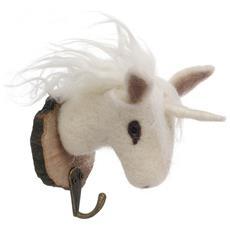 Gancio Con Unicorno (11 X 6 X 12cm) (bianco)