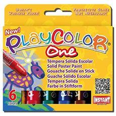 Cf6 Tempera Solida Playcolor Col As