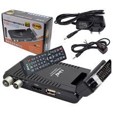 Decoder Ricevitore Digitale Terrestre Dvb-t2 Full Hd H. 265 Hdmi Con Funzione Pvr Videoregistratore E Mediaplayer