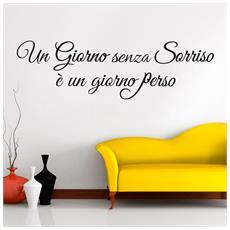 Wall-sticker Adesivo Murale Frasi Citazioni Arredo Sorriso Living 180x60cm