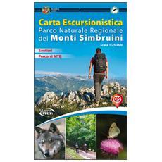 Carta escursionistica Parco naturale regionale dei monti Simbruini 1:25.000