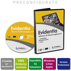 Videosorveglianza Ip Vms Evidentia Licenza Professional 2 Telecamere