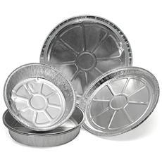 Confezione 3 Contenitore Alluminio C2 Tondo Cm25h02 Contenitori Alimenti