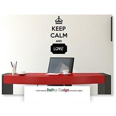 Adesivo In Vinile Rimovibile Da Parete Stickers Mis. M - Keep Calm Blackboard