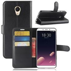 Custodia Portafoglio Finta Pelle Per Smartphone Meizu Meilan M6s