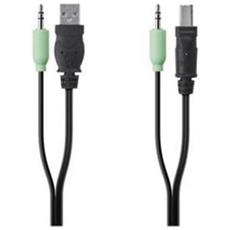 4 pin USB A, 3.5mm / 4 pin USB B, 3.5mm 4 pin USB A, 3.5mm 4 pin USB B, 3.5mm Nero cavo di interfaccia e adattatore