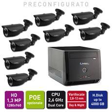 Kit Videosorveglianza Ip Entry Base Xlight Hd : Nvr 8 Camere Ip 1,3 Mp 1280x960