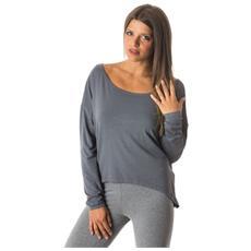 Maglia Donna Yoga Maxi Jersey Grigio L