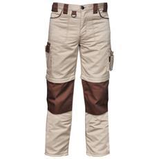 Pantalone Multitasche Goodyear In Poliestere E Cotone Colore Khaki E Marrone Taglia 3xl