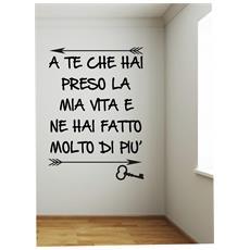 Wall-sticker Adesivo Murale Frasi Citazioni Arredo A Te Jovanotti 80x50cm