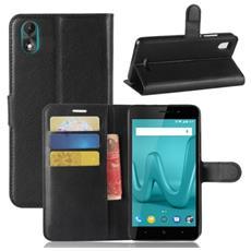 Custodia Cover Portafoglio Finta Pelle Per Smartphone Wiko Lenny 4 Plus