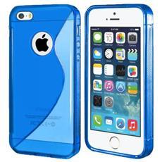 Cover Custodia Sline Silicone Tpu - Blu - Apple Iphone 5 E 5s