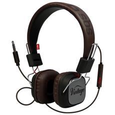 Cuffie stereo a filo con Microfono Vintage + tasto risposta / fine chiamata