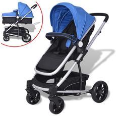 Passeggino / carrozzina 2-in-1 In Alluminio Blu E Nero
